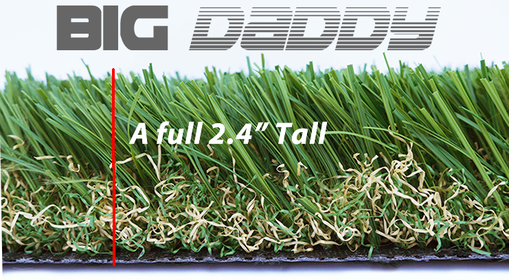 Tall synthetic grass